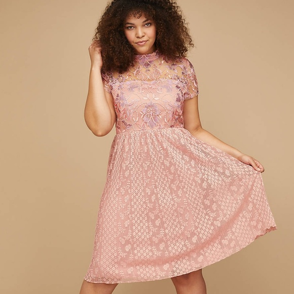 NWT Lane Bryant Plus Size Embroidered Lace Dress NWT